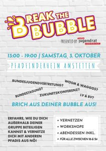 Break the Bubble A5-Flyer